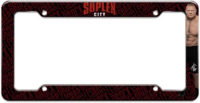 Repeat License Plate Tag Frame Sleep Conquer Graphics and More WWE Brock Lesnar Eat