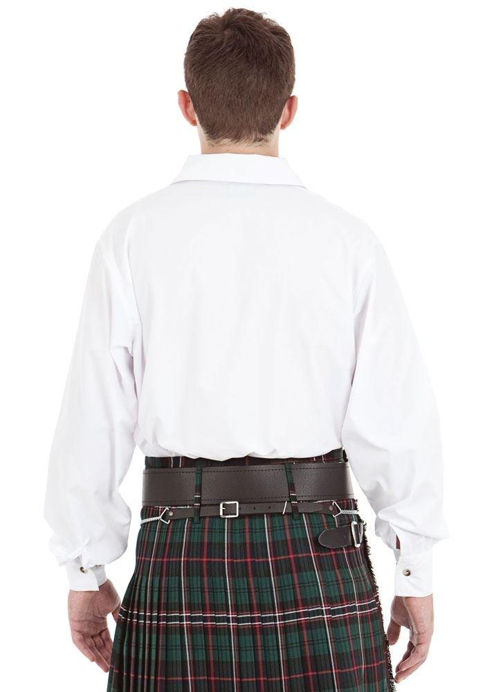 Kilt Society Mens White Scottish Jacobite Ghillie Shirt XX-Large by Kilt Society (Image #4)