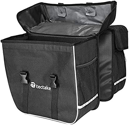 TecTake 35l Double sacoche de v/élo porte-bagage cycle pannier sac set