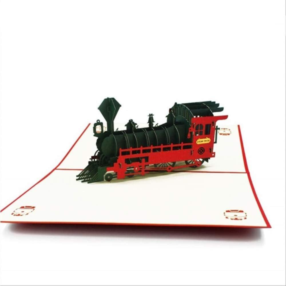 2 Piezas Día Del Padre Modelo De Tren En 3D Tarjetas Emergentes Tarjeta De Regalo De Cumpleaños Para Niños Con Sobres Tarjetas De Felicitación Adhesivas
