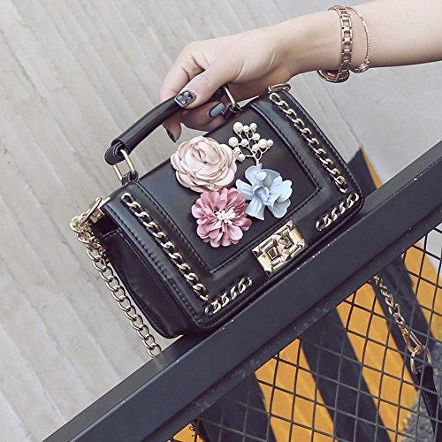 Flower Black QZUnique Shoulder Crossbody Bag Silk Summer Handbag Clutch Women's Purse qqOSZftnv