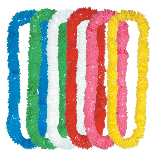 Beistle 432-Pack Soft-Twist Poly Leis, 21/4 by 36-Inch by Beistle