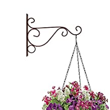 EtechMart Wall Bracket Metal Hanger for Candle Lantern Path Light Pot Plant (Small, Red Bronze)
