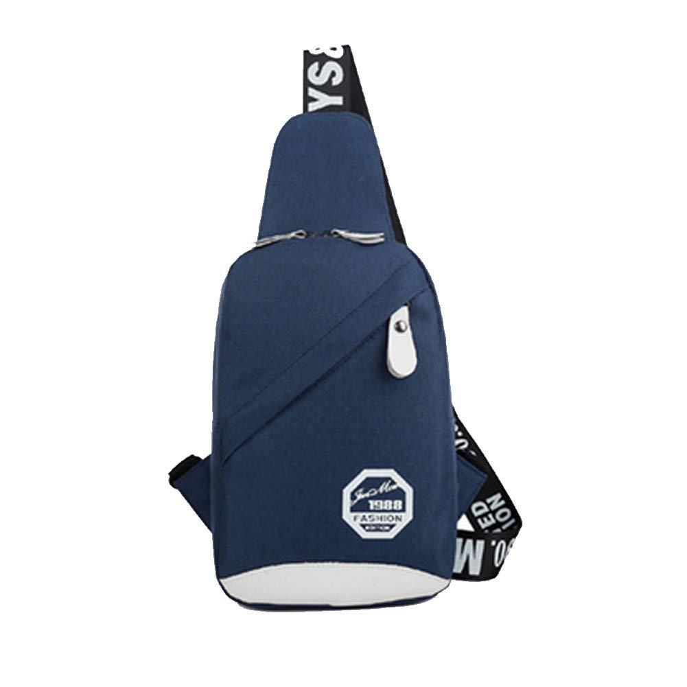 PrettyAll Men's Shoulder Bag Sling Backpack, Multipurpose Crossbody Shoulder Bag Travel Hiking Daypack (Blue, L17W8H26)