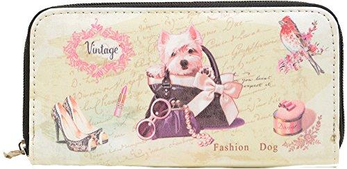 Kittens & Puppies! Vegan Leather Fashion Bi-Fold Wallet Puppy