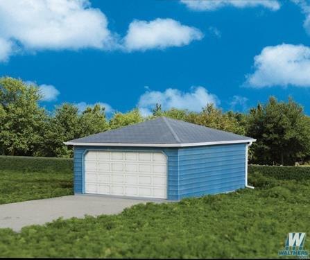 Two-Car Garage -- Kit - 3-1/8 x 3-1/8 x 2