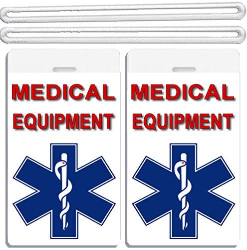 2x Medical Cross At Bottom Equipment ID Luggage Tags TSA Carry-On CPAP BiPAP Sleep APNEA POC (Cpap Medical Equipment Carry On Luggage Tag)
