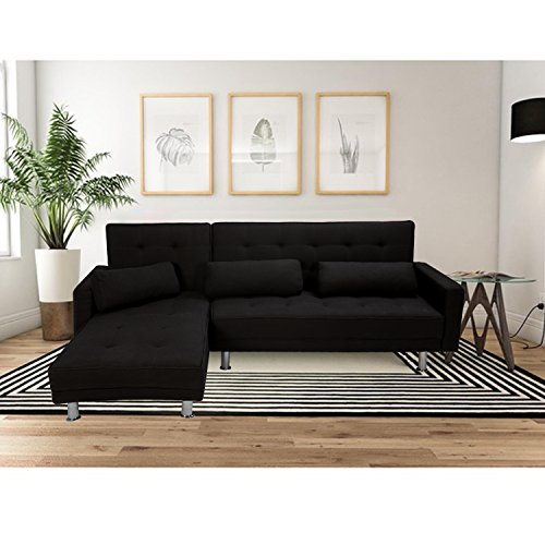merax-fabric-sectional-sofa-with-reversible-chaise-and-removable-armrests-black