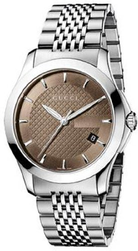 Mens Watch Gucci YA126406 Timeless Stainless Steel Timeless Brown Dial