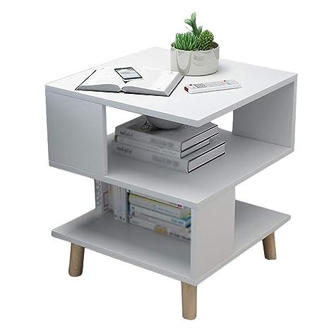 Outstanding Amazon Com Side Table Wood Coffee Table 2 Layer Retro Tea Evergreenethics Interior Chair Design Evergreenethicsorg