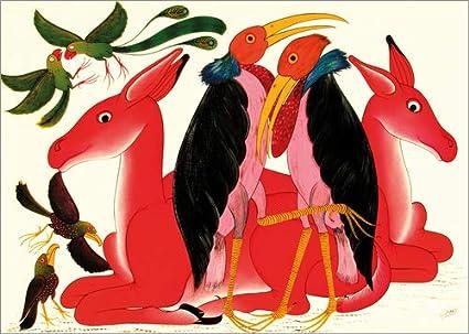 Posterlounge Lienzo 170 x 120 cm: Marabus During Courtship de Omary/Tanzania Art & Licensing - Cuadro Terminado, Cuadro sobre Bastidor, lámina terminada sobre Lienzo auténtico, impresión en Lienzo