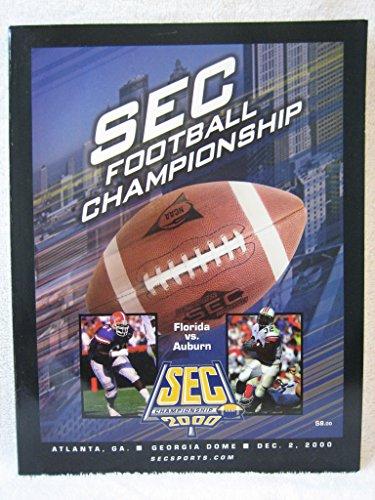 Auburn Florida Football - SEC Football Championship Game Program - Florida vs. Auburn, Dec. 2, 2000