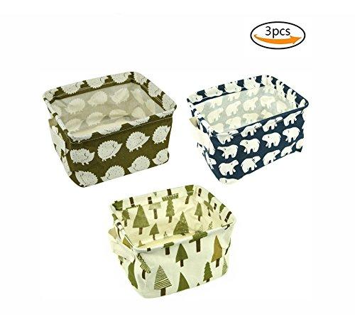 NKTM Storage Basket Foldable Handles