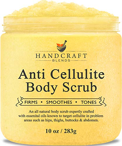 Handcraft Cellulite Treatment Body Scrub - All Natural Ingredients - Penetrates Skin, Targets Unwanted Fat and Improves Skin Firmness - 10 oz