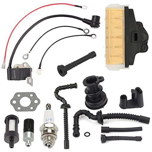 Harbot Air Filter+Fuel/Oil Line Filter+Spark Plug Gasket Ignition Coil Carburator Tune Up Kit for STIHL 021 023 025 MS210 MS230 MS250 - Ignition Kit Tune