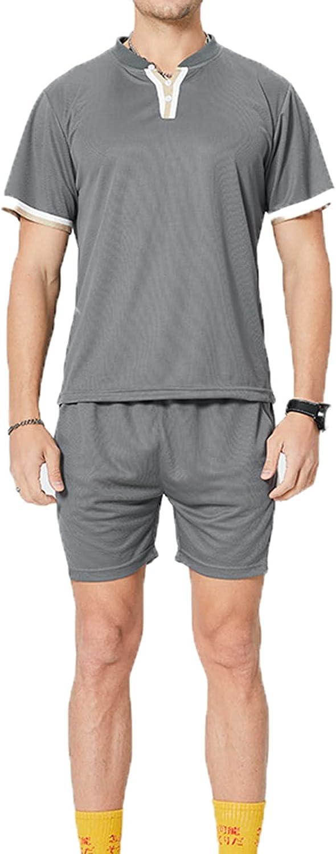SSBZYES Camiseta para Hombre Camiseta De Verano De Manga Corta para Hombre Deportes De Gran Tamaño Conjunto Corto para Hombre Deportes De Ocio Fitness para Correr Al Aire Libre Traje De Dos Piezas