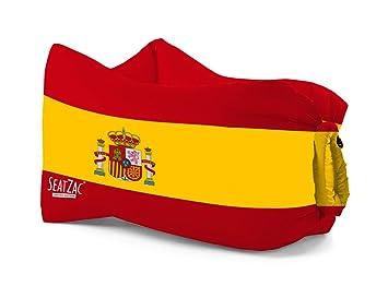 Megabag sillón Hinchable Copa del Mundo seatzac 120 x 70 x 90 Francia, España, Portugal, Brasil, españa: Amazon.es: Jardín