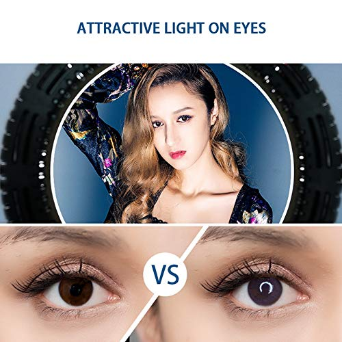 Kshioe Upgraded 12'' Dimmable LED Ring Light, Adjustable 2700-5500K Color Temperature Circle Light with 78 Inch Light Stand & Table Top Stand, Camera Phone Holder, Carring Case for Video Shooting by Kshioe (Image #3)
