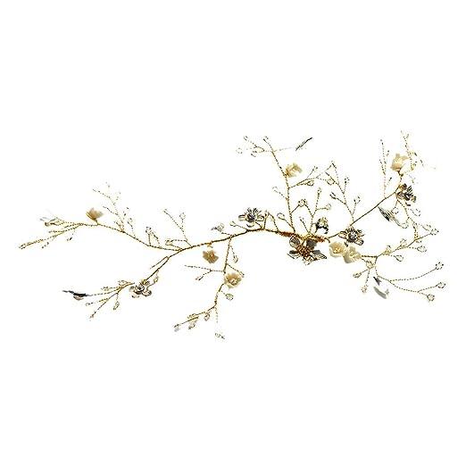 Amazon com: Roman Goddess Leaf and Star Branch Dainty Bridal