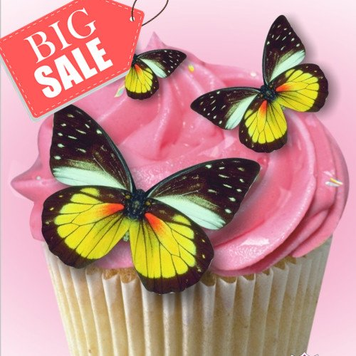 Pre corte 53 cumpleaños boda Cupcake, para tartas de oblea ...