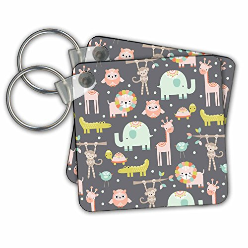 Zoo Animal Keychain - 7