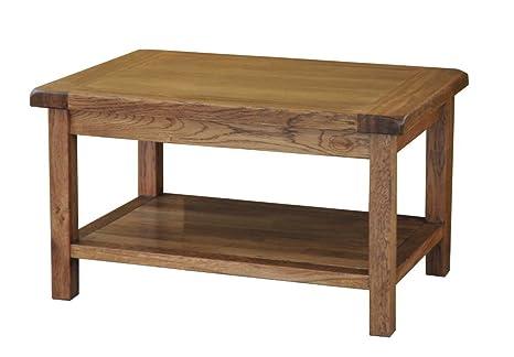 Tavolini Da Salotto In Legno Rustico.Morriswood Tavolino Da Salotto In Legno Rustico Di Quercia 760 Mm