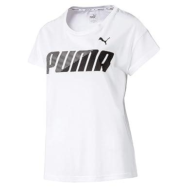 PUMA Modern Sport Graphic tee Camiseta, Mujer, White, M