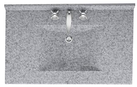 Swanstone CV2231-040 Contour Solid Surface Single-Bowl Vanity Top 31-Inch by 22-Inch Bermuda Sand