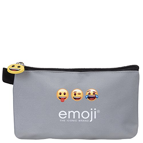 414a078f0d Cartable et Trousse Emoji pour l'école et le temps libre - Sac à dos et  étui scolaire pour garçon ou fille - Émoticônes officielles de Whatsapp - 2  en 1 ...