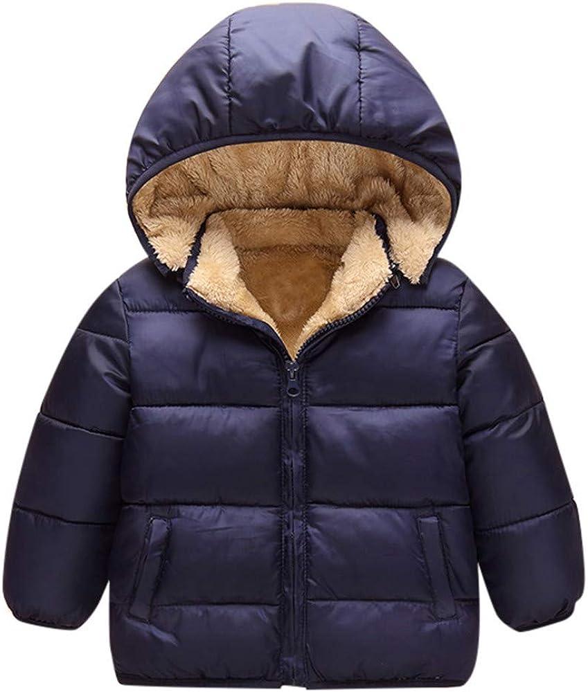 Kid Baby Boy Girl Warm Winter Hooded Coat Cloak Jacket Fur Outerwear Clothes New