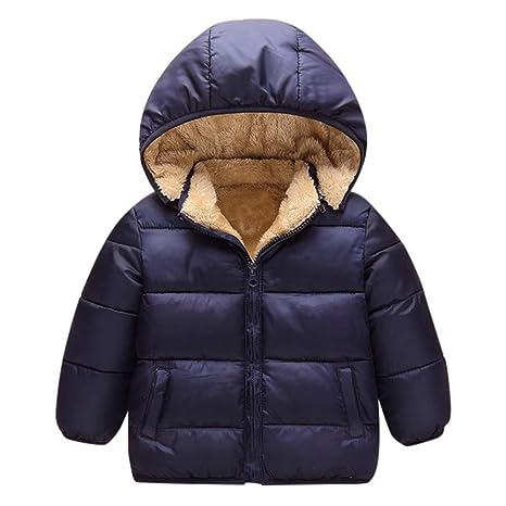 e71fca958f2ca QinMM_Enfants Bébé Garçon Filles Doudoune Trench-Coat Manteau À Capuche  Tops Blouson Hiver Velours Chaud