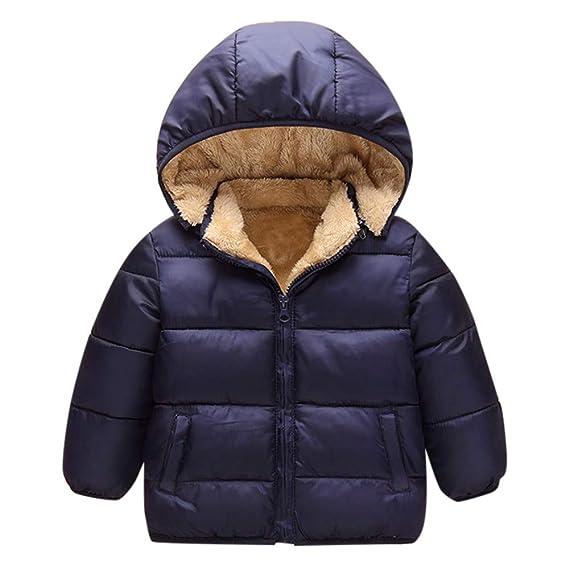 K-Youth Ropa Bebe Niño Abrigo para Niñas Invierno Abrigo de algodón Grueso Abajo Chaqueta