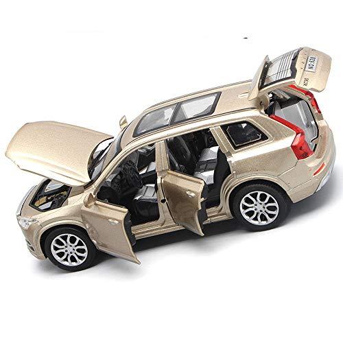 FidgetGear 1pcs New 1:32 Volvo XC90 T6 Alloy Diecast Toys Vehicles Model Car Deco Pull Back Gold