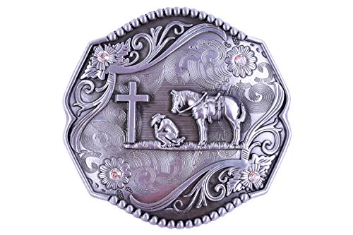 - Belt Buckles Religion Cross Cowboy And Horse Thickness Rhombus Accessories