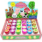 TINYMILLS 24 Pcs Barnyard Farm Animals Stampers for Kids