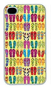 iPhone 5 5S Case, iCustomonline Summer Vector Back Case Cover for iPhone 5 5S Kimberly Kurzendoerfer