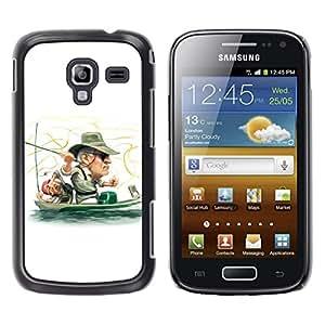 A-type Arte & diseño plástico duro Fundas Cover Cubre Hard Case Cover para Samsung Galaxy Ace 2 (Divertido Pescador)