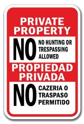 WallAdorn No Hunting Or Trespassing Allowed/Propiedad ...