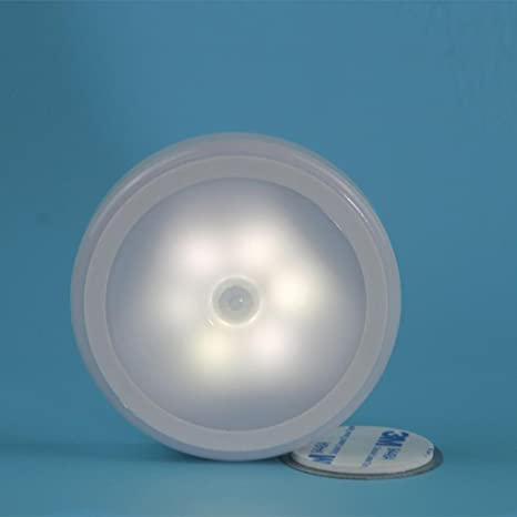 6 LED Wireless PIR Auto Motion Sensor Infrared Night Light Cabinet Stair Lamp Binnenverlichting