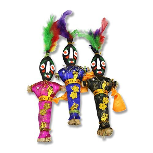 (1 Authentic New Orleans Voodoo Doll - Assorted Colors)