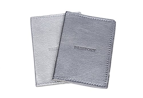Silver Leather Passport Holder/Women Gifts Ideas