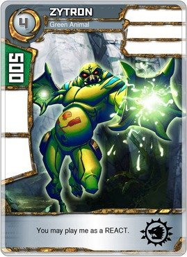 (Redakai - Zytron - Green Animal - Redakai Base Set)