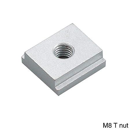 Bulary 4 PCS M8 Screw Lavorazione del Legno Universal Platen Mitre Track Clamping Blocks