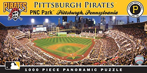 MasterPieces MLB Pittsburgh Pirates Stadium Panoramic Jigsaw Puzzle, 1000-Piece
