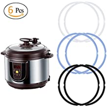 ANPHSIN 6 Pack Silicone Sealing Ring for 5 or 6 Quart Pressure Cooker and Instant Pot, IP-DUO60, IP-LUX60, IP-DUO50, IP-LUX50, Smart-60, IP-CSG60 and IP-CSG50.