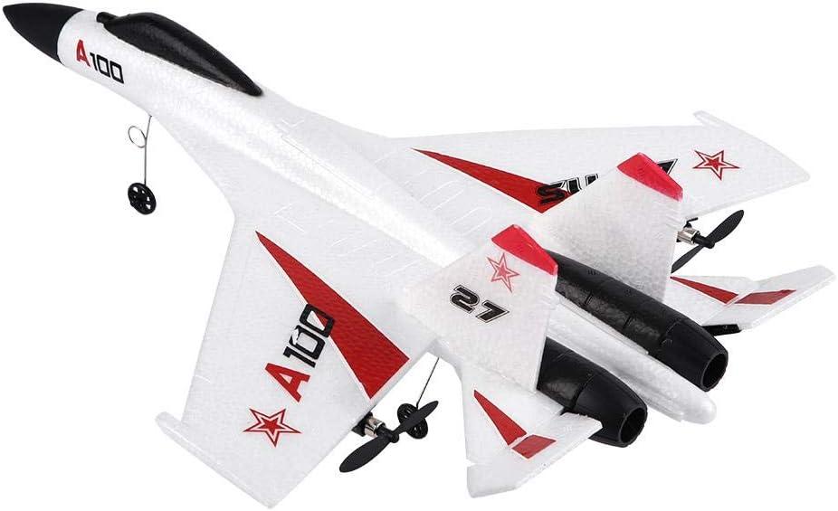 Caredy Control Remoto del avión RC Avión WLtoys XK A100-SU27 3 Canales EPP Planeador de ala Fija Avión Control Remoto Planeador para Principiantes y Regalos para niños