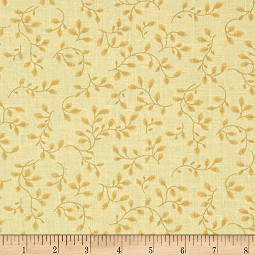 108' Wide Quilt Backing (108in Wide Quilt Backing Folio Vines Pale Yellow Fabric By The Yard)
