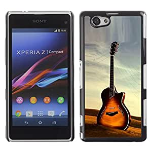 Design for Girls Plastic Cover Case FOR Xperia Z1 Compact D5503 Guitar OBBA