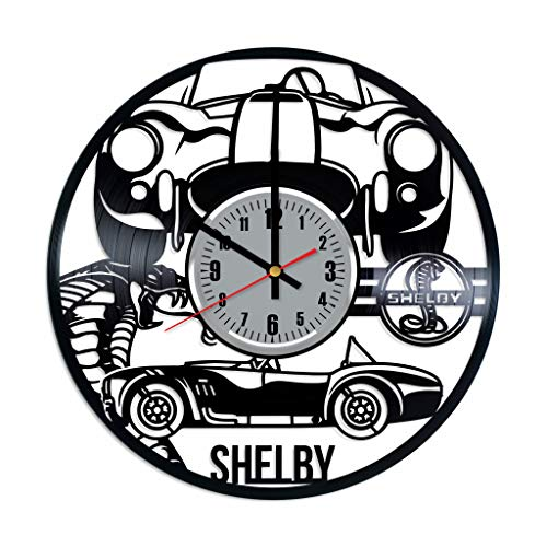 Shelby Vinyl Wall Clock - Shelby Mustang Ford Art Handmade Wall Decor Made of Vinyl Record - Original Gift for Any Occasion