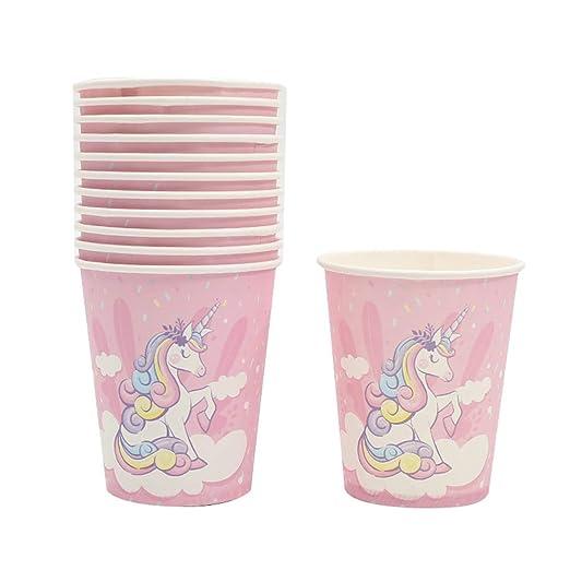 Monbedos 1 paquete de unicornio rosa con nubes para fiesta ...